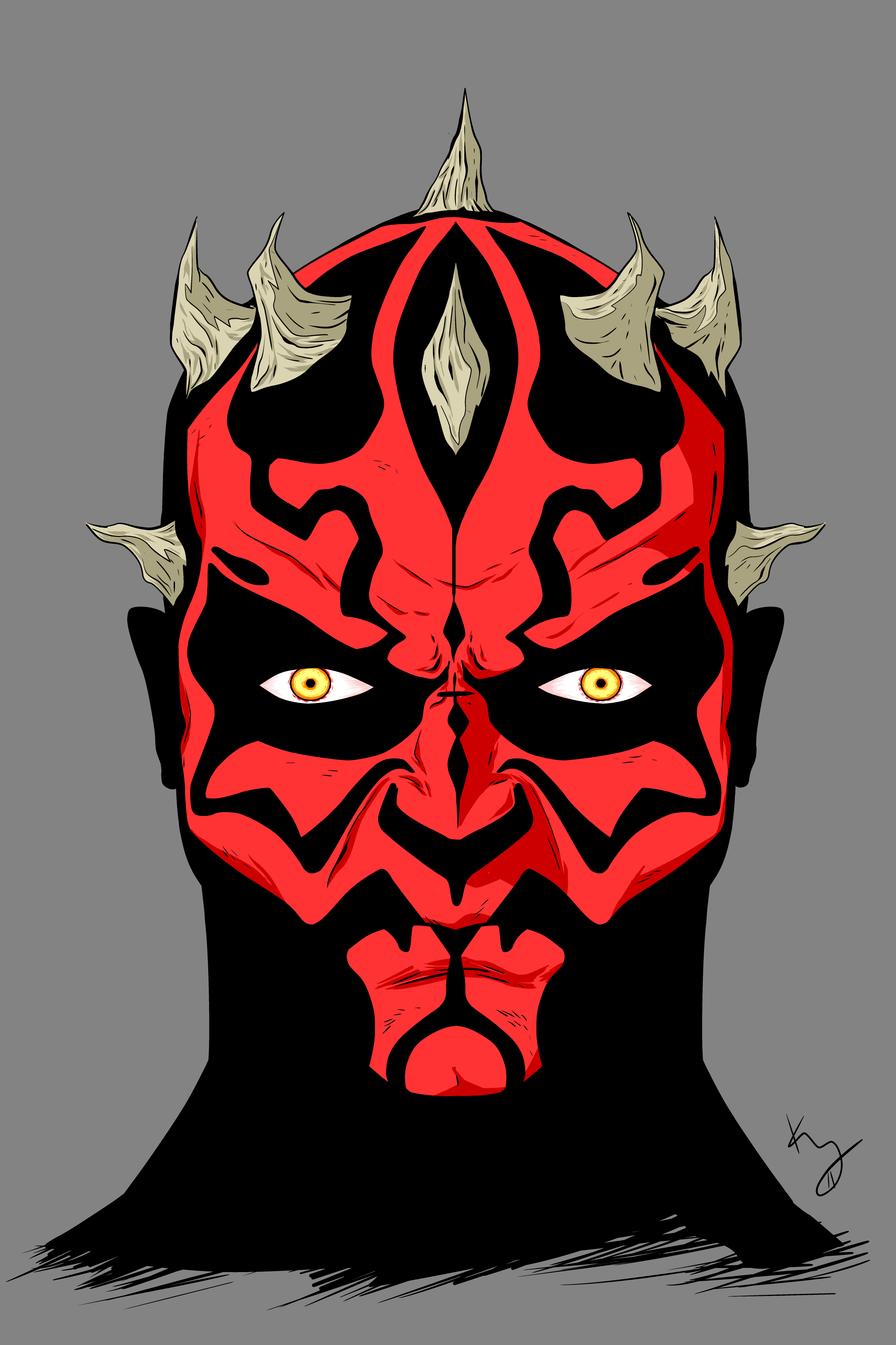 Darth Maul Line Drawing i Also Feel Cheesy Drawing