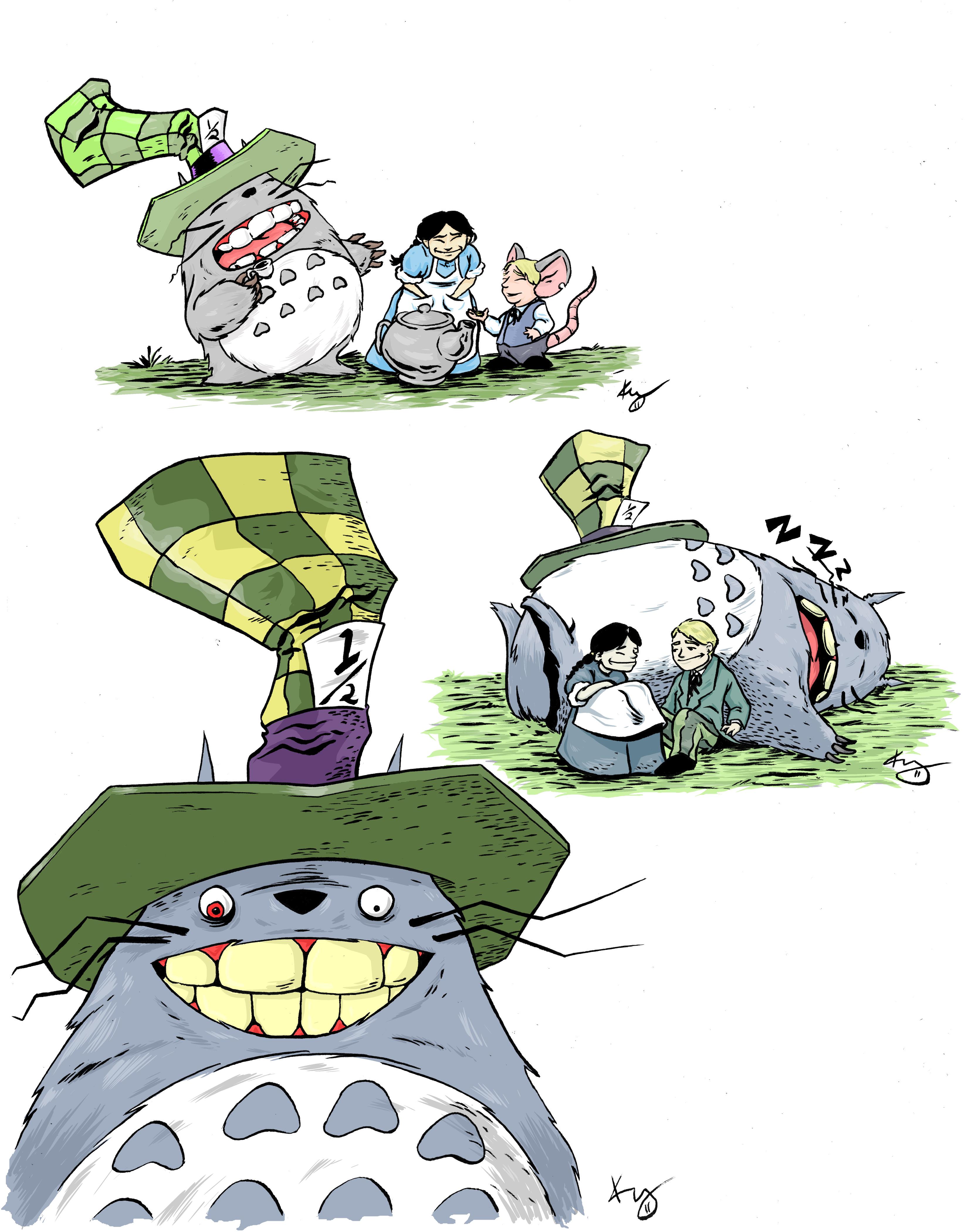 Totoro in Wonderland wedding treebeerdstuff