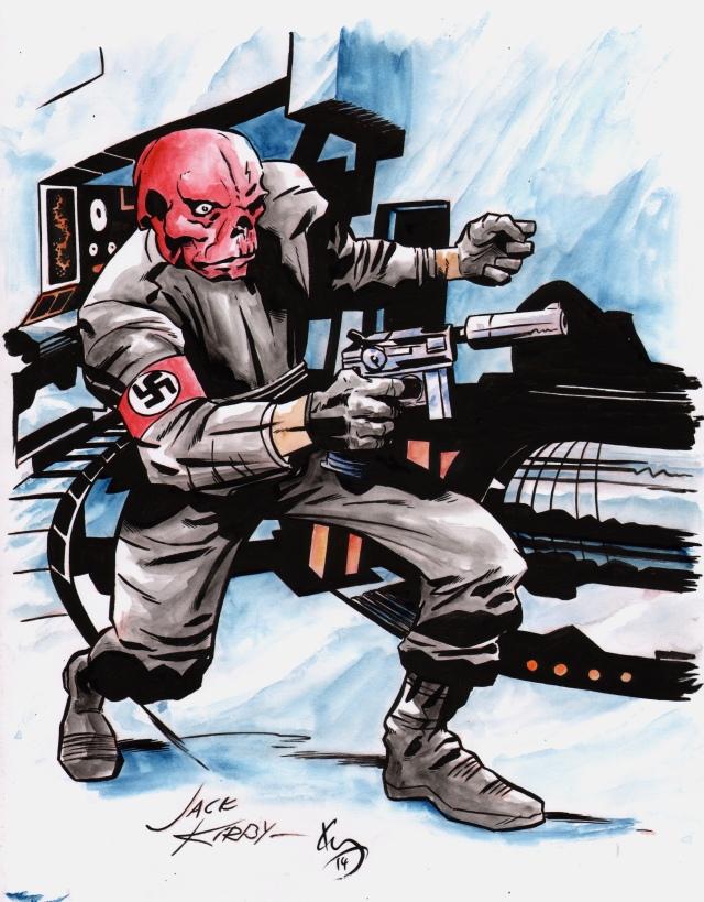 kirby red skull