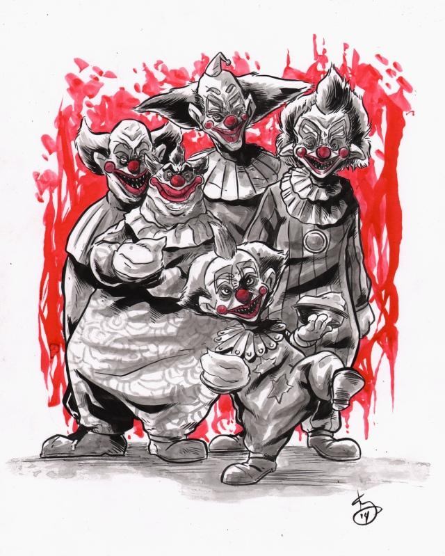 inktober klowns